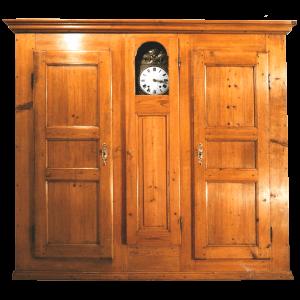 Double armoire avec pendule