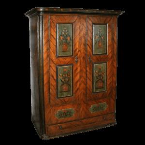 Armoire peinte à 2 portes et 1 tiroir