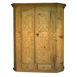 Armoire baroque sculptée à 2 portes