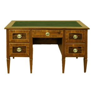 Bureau plat Louis XVI à 5 tiroirs