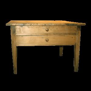 Table de travail à deux tiroirs