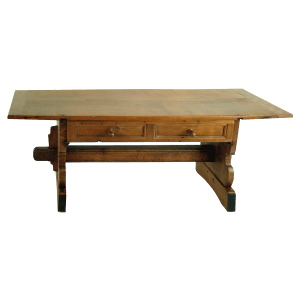 Table « Renaissance » à sabots, abaissée