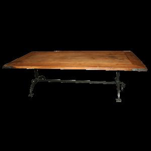 Table basse, pieds en fer forgé