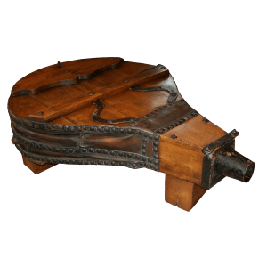 Table basse, soufflet de forge