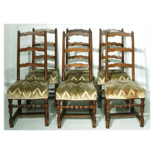 6 chaises Louis XIII