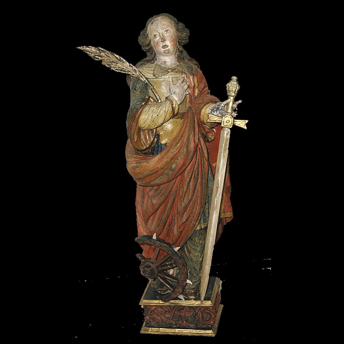 Sculpture Haute Époque « Sainte Catherine »
