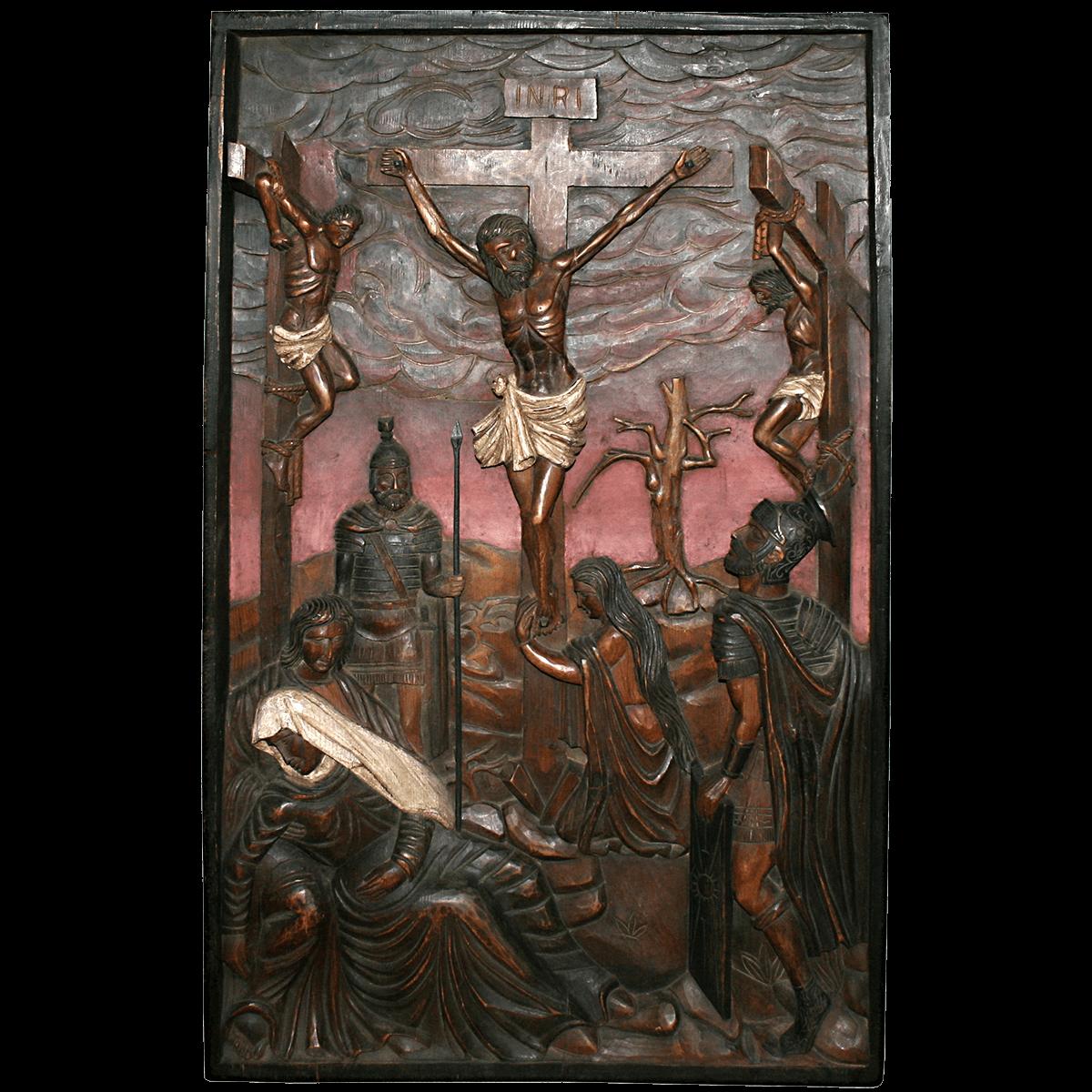 Haut-relief, crucifixion de Jésus