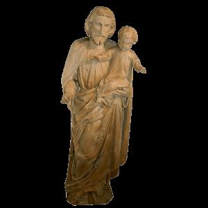 Statue « Joseph portant Jésus dans ses bras »