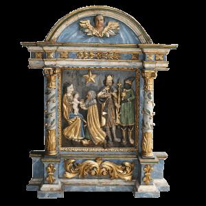 Exceptionnel tabernacle (visite des rois-mages à l'enfant Jésus)