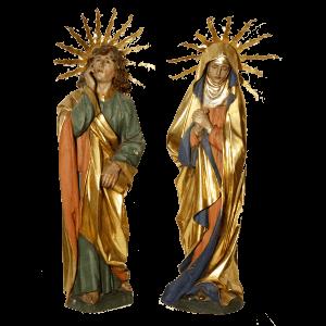 Paire de statues de Suisse centrale