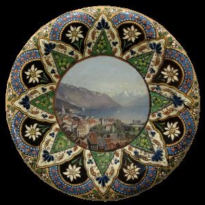 Assiette de Thoune avec peinture de Montreux