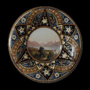 Assiette de Thoune, paysage de Vevey