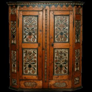 Rare armoire peinte