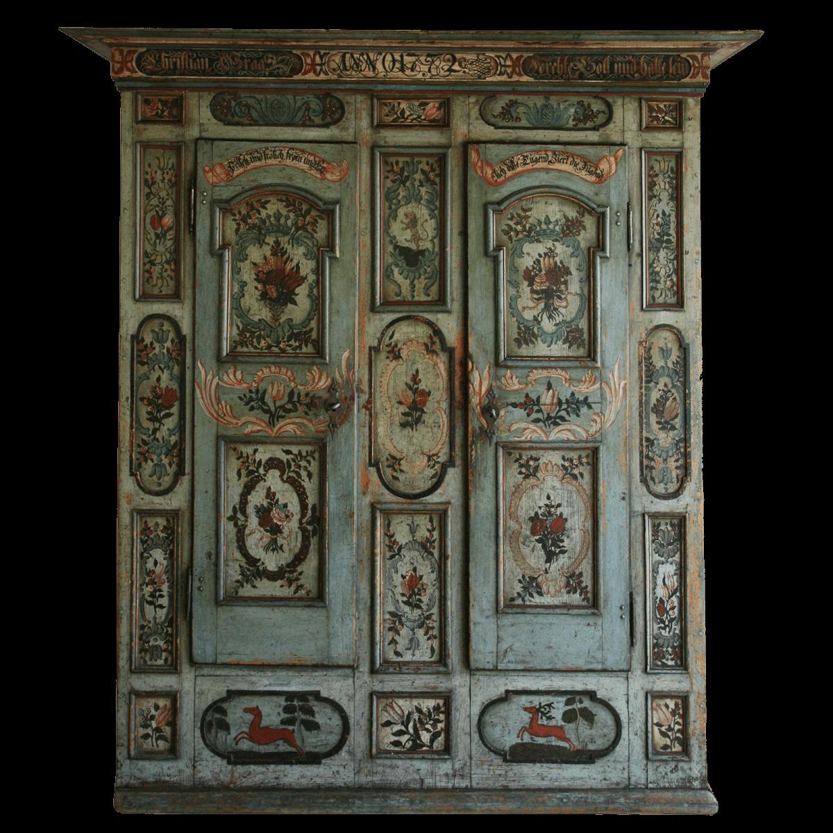 Exceptionnelle armoire peinte du Simmental