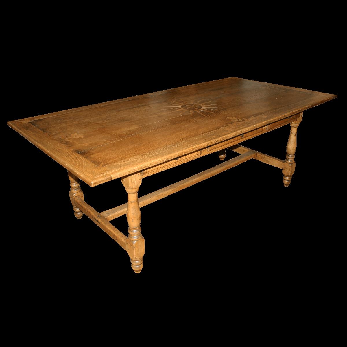 Table marquetée