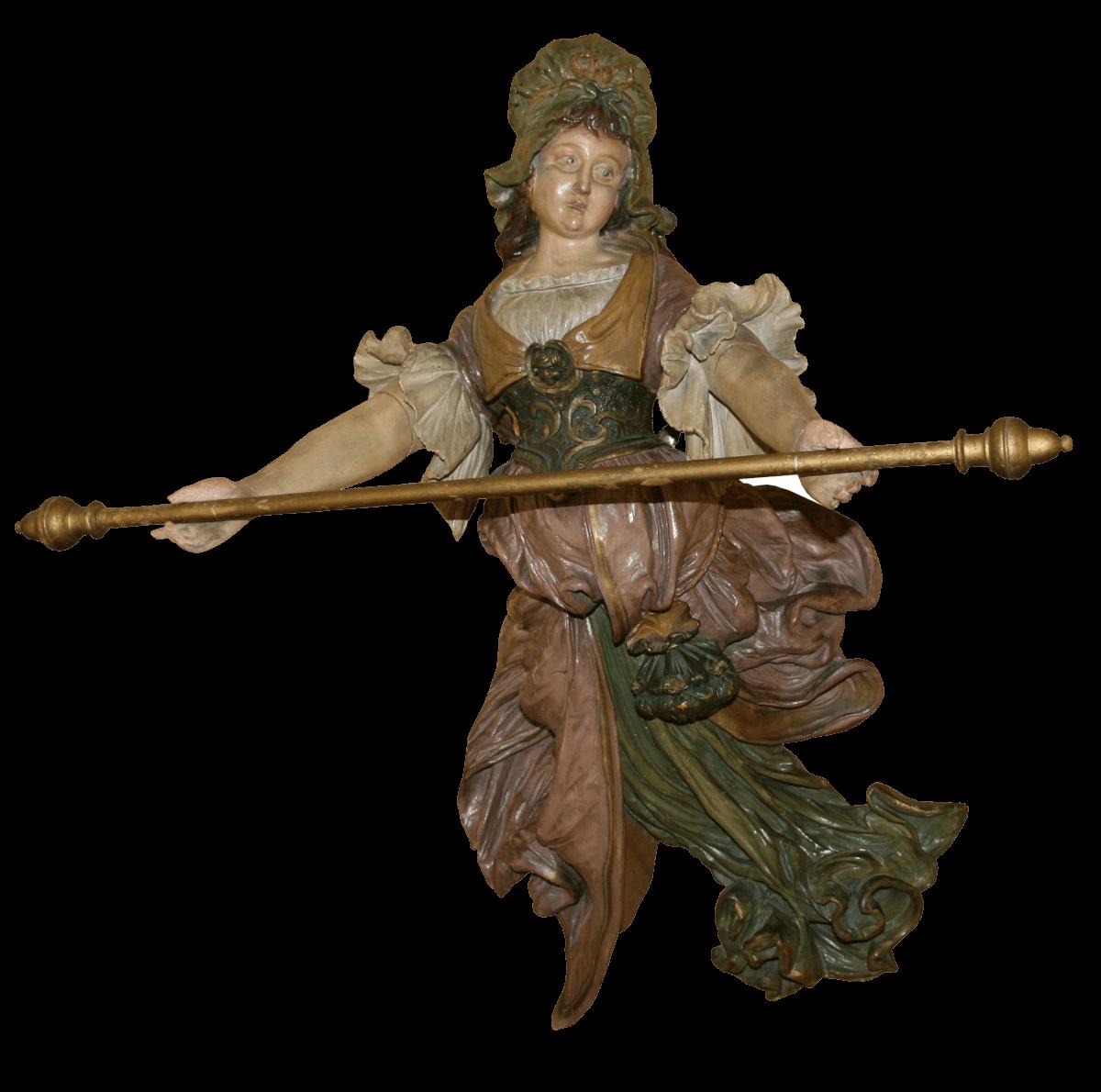Porte-serviettes sculpté
