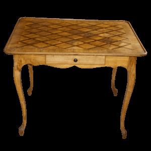 Table à cuvette marquetée style Louis XV
