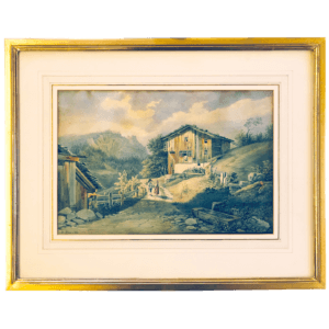 Aquarelle de Heinrich Triner (1796-1873)